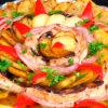 Красивый праздничный картофель с мясом